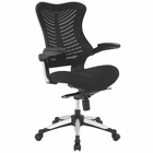 Modway Charge Mesh Office Chair in Black MY-EEI-2285-BLK