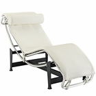 Modway Charles Leather Chaise Lounge in White MY-EEI-129-WHI
