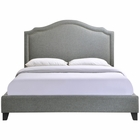 Modway Charlotte Queen Upholstered Fabric Bed in Gray MY-MOD-5045-GRY-SET