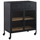 Modway Charm Pine Wood and Steel Cabinet in Black MY-EEI-2641-BLK