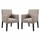 Modway Chloe Armchair Upholstered Fabric Set of 2 in Beige MY-EEI-1299-BEI
