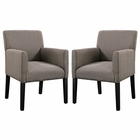 Modway Chloe Armchair Upholstered Fabric Set of 2 in Gray MY-EEI-1299-GRY