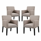 Modway Chloe Armchair Upholstered Fabric Set of 4 in Beige MY-EEI-1679-BEI