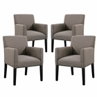 Modway Chloe Armchair Upholstered Fabric Set of 4 in Gray MY-EEI-1679-GRY