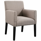 Modway Chloe Faux Leather Armchair in Beige MY-EEI-1045-BEI
