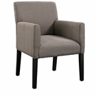 Modway Chloe Faux Leather Armchair in Gray MY-EEI-1045-GRY