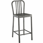Modway Clink Brushed Steel Counter Stool in Silver MY-EEI-2040-SLV