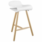 Modway Clip Bar Stool in White MY-EEI-1463-WHI