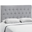 Modway Clique Full Tufted Upholstered Fabric Headboard in Sky Gray MY-MOD-5204-GRY