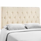 Modway Clique King Tufted Upholstered Fabric Headboard in Ivory MY-MOD-5203-IVO