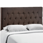Modway Clique Queen Tufted Upholstered Fabric Headboard in Dark Brown MY-MOD-5202-DBR