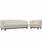 Modway Coast Living Room Furniture Upholstered Fabric 2 Piece Set in Beige MY-EEI-2450-BEI-SET