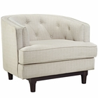 Modway Coast Upholstered Fabric Armchair in Beige MY-EEI-2130-BEI
