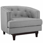 Modway Coast Upholstered Fabric Armchair in Light Gray MY-EEI-2130-LGR
