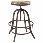 Modway Collect Pine Wood Top Bar Stool in Brown MY-EEI-1208-BRN