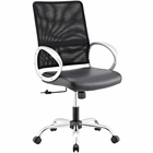 Modway Command Mesh and Vinyl Mesh and Faux Leather Office Chair in Black MY-EEI-2861-BLK