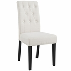 Modway Confer Dining Upholstered Fabric Side Chair in Beige MY-EEI-1383-BEI