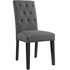 Modway Confer Dining Upholstered Fabric Side Chair in Gray MY-EEI-1383-GRY