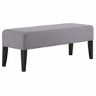 Modway Connect Upholstered Fabric Bench in Light Gray MY-EEI-2556-LGR