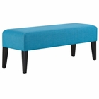 Modway Connect Upholstered Fabric Bench in Pure Water MY-EEI-2556-PUR