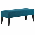 Modway Connect Upholstered Fabric Bench in Teal MY-EEI-2556-TEA