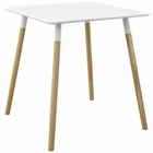 "Modway Continuum 28"" Square Dining Table in White MY-EEI-2667-WHI-SET"