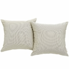Modway Convene 2 Piece Outdoor Patio Wicker Rattan Pillow Set in Beige MY-EEI-2001-BEI