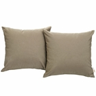 Modway Convene 2 Piece Outdoor Patio Wicker Rattan Pillow Set in Mocha MY-EEI-2001-MOC