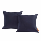 Modway Convene 2 Piece Outdoor Patio Wicker Rattan Pillow Set in Navy MY-EEI-2001-NAV