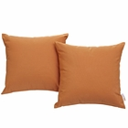 Modway Convene 2 Piece Outdoor Patio Wicker Rattan Pillow Set in Orange MY-EEI-2001-ORA