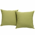 Modway Convene 2 Piece Outdoor Patio Wicker Rattan Pillow Set in Peridot MY-EEI-2001-PER