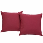 Modway Convene 2 Piece Outdoor Patio Wicker Rattan Pillow Set in Red MY-EEI-2001-RED