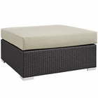 Modway Convene Outdoor Patio Large Square Ottoman in Espresso Beige MY-EEI-1845-EXP-BEI