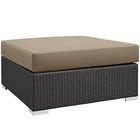 Modway Convene Outdoor Patio Large Square Ottoman in Espresso Mocha MY-EEI-1845-EXP-MOC