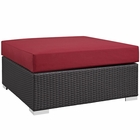 Modway Convene Outdoor Patio Large Square Ottoman in Espresso Red MY-EEI-1845-EXP-RED