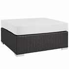 Modway Convene Outdoor Patio Large Square Ottoman in Espresso White MY-EEI-1845-EXP-WHI