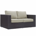 Modway Convene Outdoor Patio Wicker Rattan Loveseat in Espresso Beige MY-EEI-1907-EXP-BEI