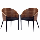 Modway Cooper Dining Chairs Set of 2 in Walnut MY-EEI-915-WAL