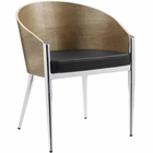 Modway Cooper Dining Wood Armchair in Silver MY-EEI-604-SLV