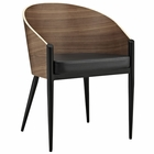 Modway Cooper Dining Wood Armchair in Walnut MY-EEI-604-WAL