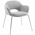Modway Cordelia Dining Upholstered Fabric Armchair in Light Gray MY-EEI-623-LGR