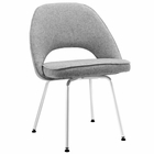 Modway Cordelia Dining Upholstered Fabric Side Chair in Light Gray MY-EEI-622-LGR