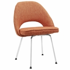 Modway Cordelia Dining Upholstered Fabric Side Chair in Orange MY-EEI-622-ORA