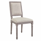 Modway Court Vintage French Upholstered Fabric Dining Side Chair in Beige MY-EEI-2682-BEI