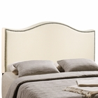 Modway Curl Full Nailhead Upholstered Fabric Headboard in Ivory MY-MOD-5208-IVO