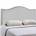 Modway Curl Full Nailhead Upholstered Fabric Headboard in Sky Gray MY-MOD-5208-GRY