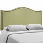 Modway Curl Queen Nailhead Upholstered Fabric Headboard in Green MY-MOD-5206-GRN