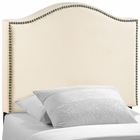 Modway Curl Twin Nailhead Upholstered Fabric Headboard in Ivory MY-MOD-5209-IVO