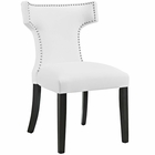 Modway Curve Faux Leather Dining Chair in White MY-EEI-2220-WHI