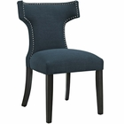 Modway Curve Upholstered Fabric Dining Chair in Azure MY-EEI-2221-AZU
